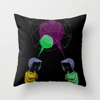 twins Throw Pillows featuring Twins by Valentina Gruer