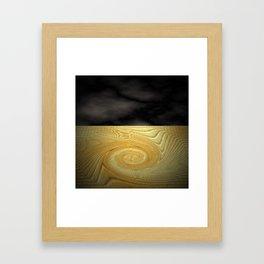 Swirling sands Framed Art Print