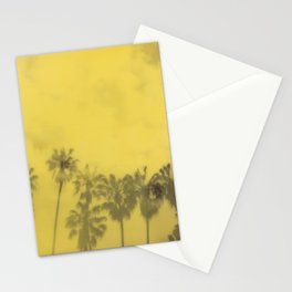 Yellow Palms Stationery Cards