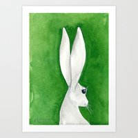 tenzin rabbit Art Print