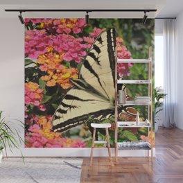 Swallowtail on Lantana Wall Mural