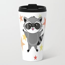 Kawaii raccoon Travel Mug