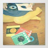 vinyl Canvas Prints featuring Vinyl by Cassia Beck