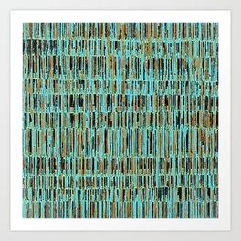 Matchsticks in Teal Art Print