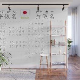 Kana (hiragana + katakana), by SBDesigns Wall Mural