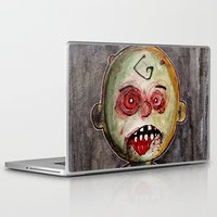 charlie brown Laptop & iPad Skins featuring You're a zombie Charlie Brown by byron rempel