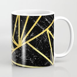 GEOMETRIC BLACK MARBLE Coffee Mug
