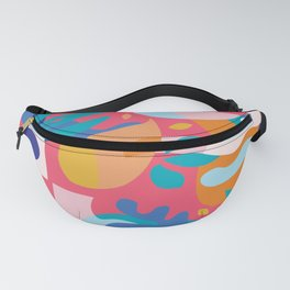 Amalfi Abstraction / Colorful Modern Shapes Fanny Pack