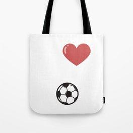 I love soccer ball white Tote Bag