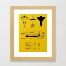 Space Shuttle All Dimensions Framed Art Print