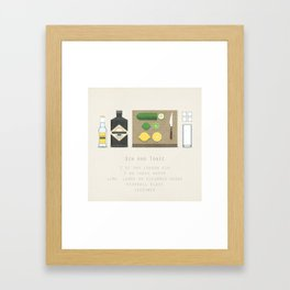 Gin and Tonic Framed Art Print