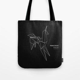 Origami Unicorn Tote Bag