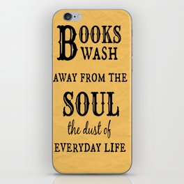 Books Wash Away iPhone Skin