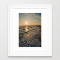 santa monica Framed Art Prints featuring Santa Monica by Nikole Lynn Photography