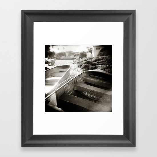 { afternoon boats } Framed Art Print