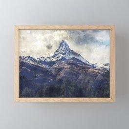 matterhorn switzerland Framed Mini Art Print