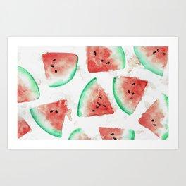 Tasty Watermelon Art Print