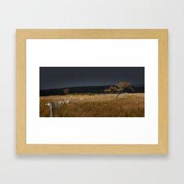 Approaching storm Framed Art Print