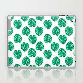 Monstera house plant leaf green painting pattern trendy hipster indoor house plant tropical garden   Laptop & iPad Skin