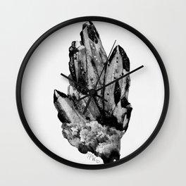 gray skies crystal cluster Wall Clock