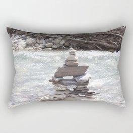 Johnson Canyon Inukshuk Rectangular Pillow