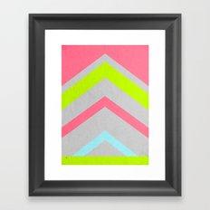 Abstract Neon Framed Art Print