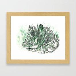 saltwater sleepy shakes Framed Art Print