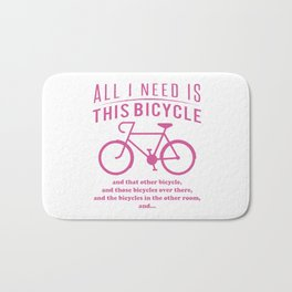 All i need is this bicycle Bath Mat