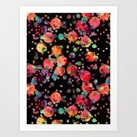 confetti Art Prints featuring Confetti by Schatzi Brown