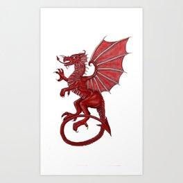Cymru am byth Art Print