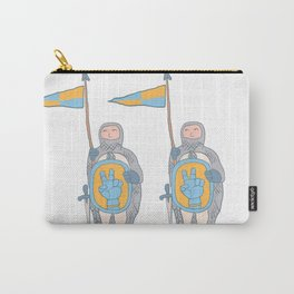 Knights in armour with shield and sword. Carry-All Pouch