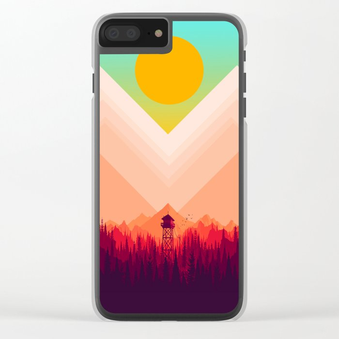 Summer Nature Clear iPhone Case