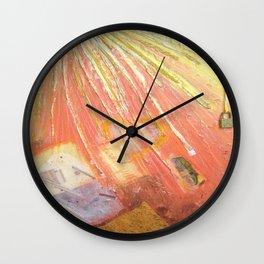 YELLOW LIGHT by Elena Raimondi Wall Clock