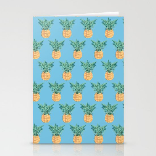 Blue Hawaii, tropical kitsch pineapple by arrpdesign