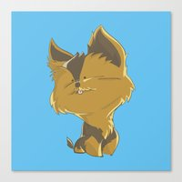 terrier Canvas Prints featuring Terrier by thinkgabriel