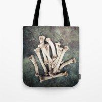 bones Tote Bags featuring Bones by Maria Heyens