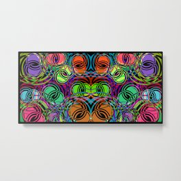 Background of spirals and circles. Calm color schemes for the design of a background or banner from Metal Print