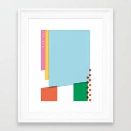 SECRET CYCLING FLAG - PANTANI Framed Art Print