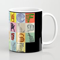 alphabet Mugs featuring Alphabet by minouette