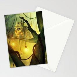 Mechanical Owl Stationery Cards