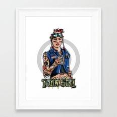 Tank Grrrl Framed Art Print