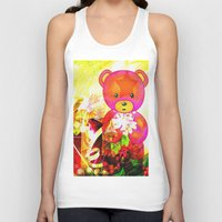 arnold Tank Tops featuring Arnold celebrates Christmas by shiva camille