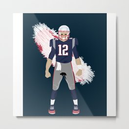 Pats - Tom Brady Metal Print