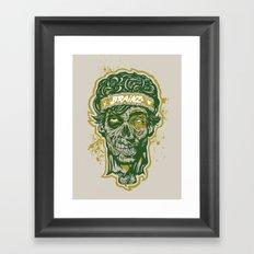 Brainz Zombie Print Framed Art Print