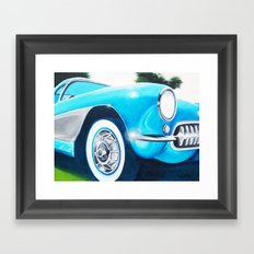 Teal Convertible  Framed Art Print
