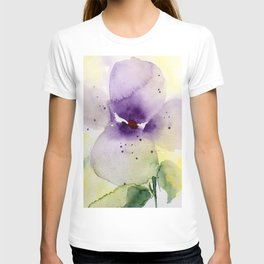 Watercolor Flowers - Pansy T-shirt