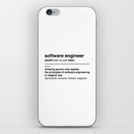 Software Engineer definition iPhone Skin