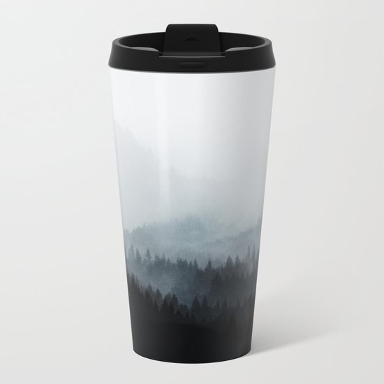 Woods 5Y BW Metal Travel Mug