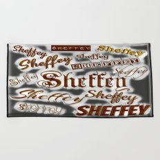 Sheffey Fonts - Gray and Bronze 9643 Beach Towel