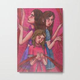 Clock Sisters (Moirai) Metal Print